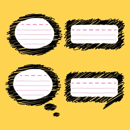 doodle speech bubble Stock Vector - 17806074