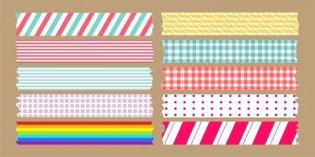 marco cumplea�os: cinta adhesiva variedad set Vectores