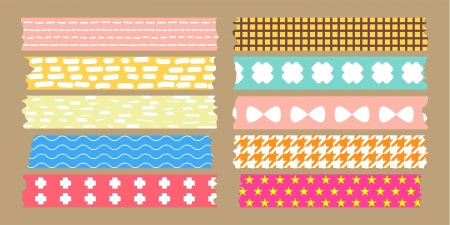 masking tape collection  Illustration