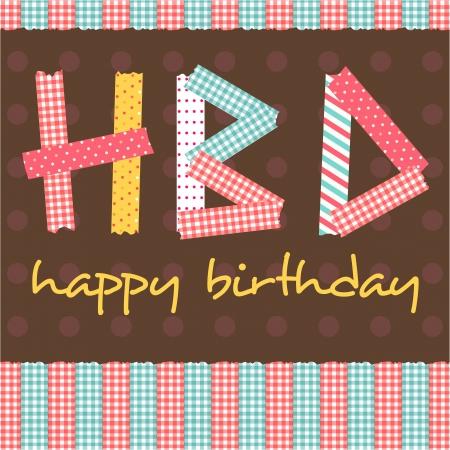 happy birthday card scrapbook style