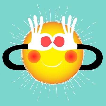summer sun Illustration