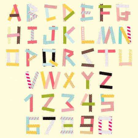 tape: masking tape alphabet