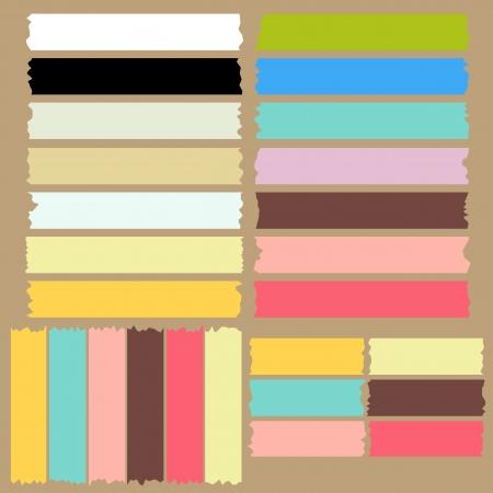 Farbe Klebeband Set
