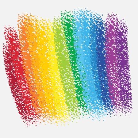 arco iris de fondo tiza