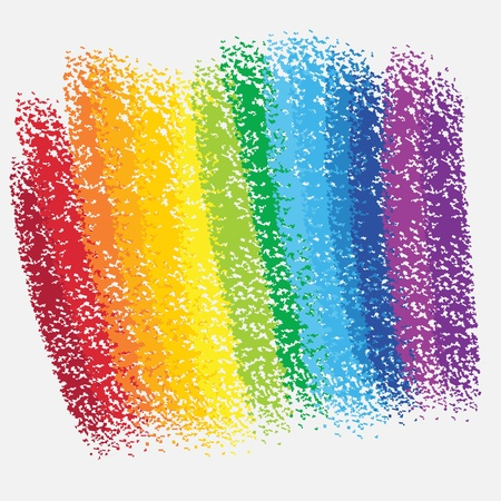 rainbow colours: rainbow chalk background Illustration