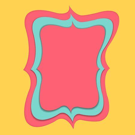 pink banner paper cut