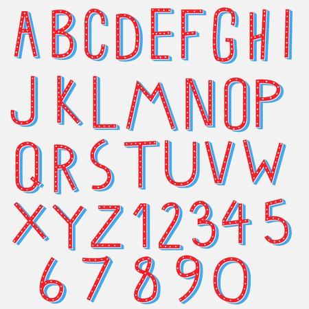 alphabet kids: red blue alphabet