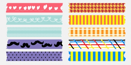 masking: sweet masking tape collection love mom and dad Illustration