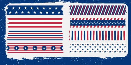 star and bars masking tape collection