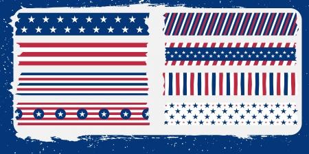 masking: estrella y colecci�n de barras de la cinta adhesiva