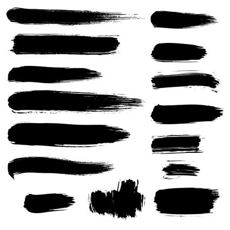 vieze handen: verscheidenheid detail penseel verf slag verzameling korte lijn