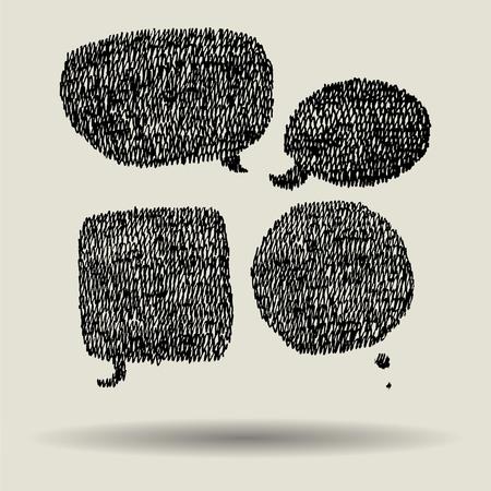 pen doodle speech bubble