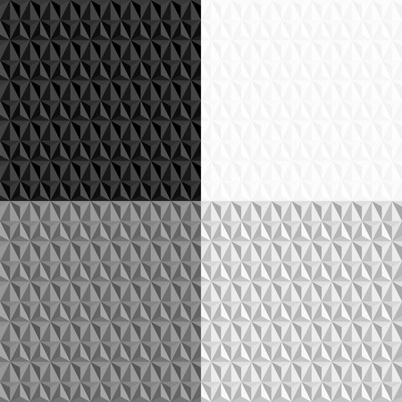 4 geometric pattern collection,black and white seamless pattern Vector