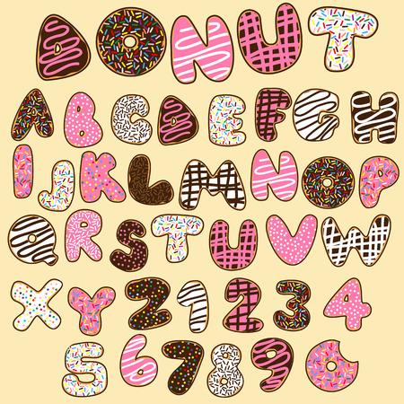 donut font,sweet alphabets