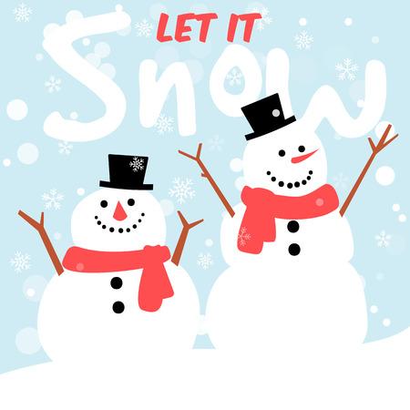 let it snow,snowman