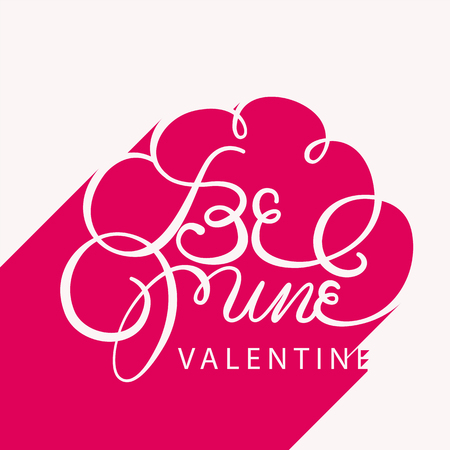 be mine: be mine valentine,happy valentines day card,lettering long shaow