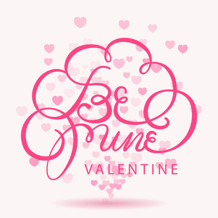be mine valentine greeting card,heart bokeh background Vector