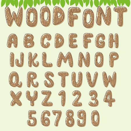 light brown: light brown wood font Illustration