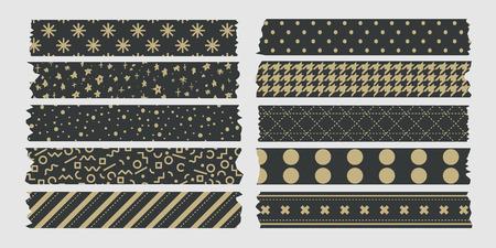 masking: patr�n de oro conjunto de cintas de enmascarar