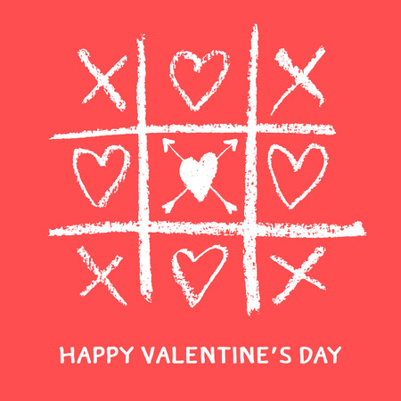 tag: glücklicher Valentinstag Grußkarte, xoxo, umarmen und küssen