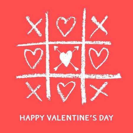 Happy Valentines karty z pozdrowieniami, xoxo, uścisk i pocałunek