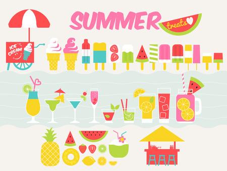 treat: summer treat design elements Illustration