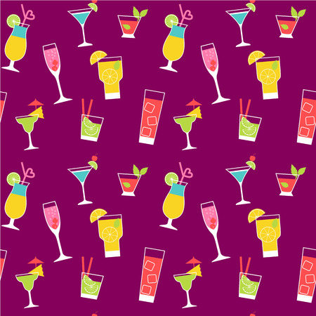 fruit background: cocktail seamless pattern background