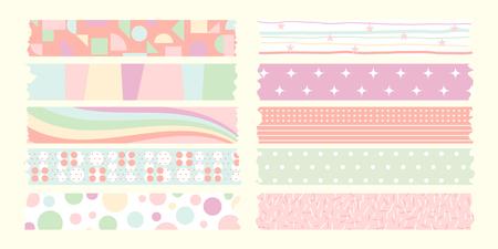 cintas: dulce cinta de enmascarar el color en colores pastel