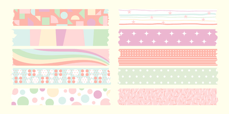 sweet masking tape pastel color