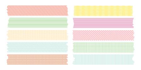 Linienmuster Band gesetzt Pastellfarben Maskierung