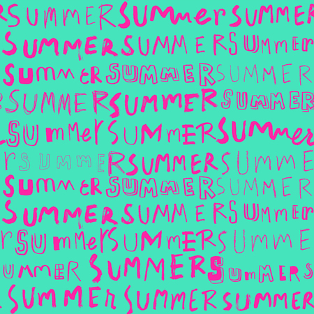 repeat pattern: neon summer doodle seamless pattern,summer lettering background,repeat pattern