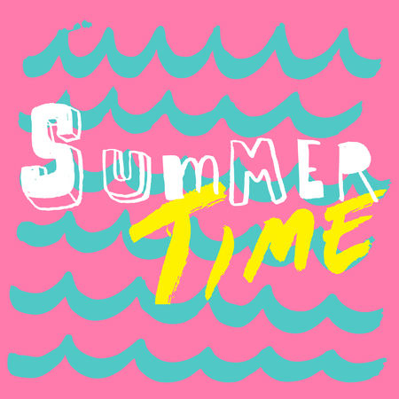 beach party: summer time doodle card,beach party