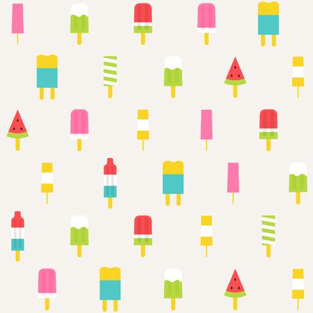 popsicle: popsicle seamless pattern background Illustration