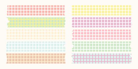 masking: pastel masking tape collection Illustration