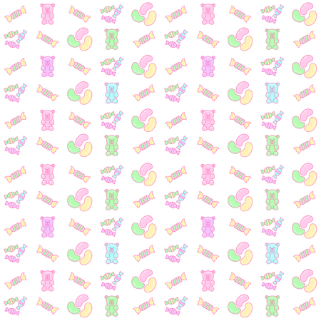 gummy: gummy bear and candy seamless pattern background