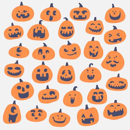 funny pumpkin face,halloween party Illustration