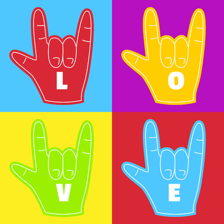 Rainbow hand,love wins,gay pride Illustration