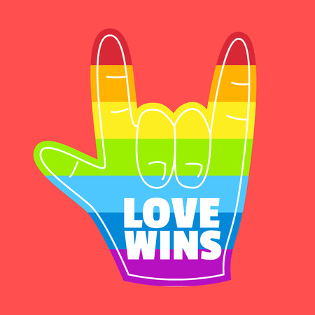 rainbow hand,love wins,gay pride,love gesture foam hand,lgbt