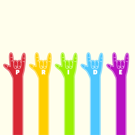 Rainbow hand,love wins,gay pride Illustration