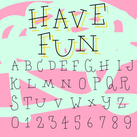 communication cartoon: Doodle alphabet,fun font
