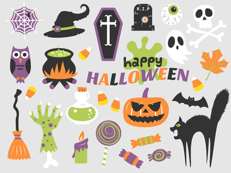 happy halloween illustration,holiday,trick or treat Illustration