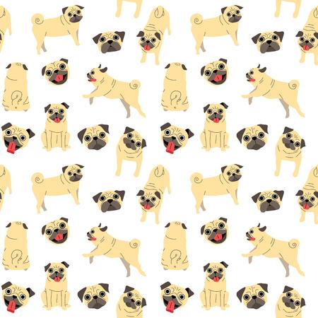 pug pattern,dog poses,dog breed