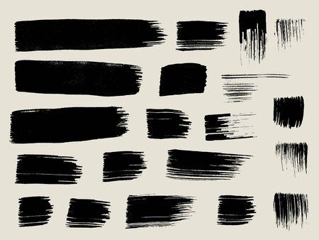 dry brush texture background,hand drawn brush paint Ilustrace
