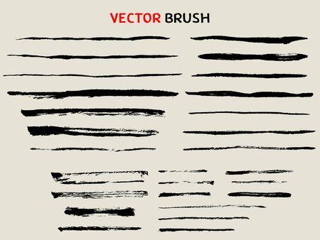 hand drawn dry brush stroke collection Vektoros illusztráció