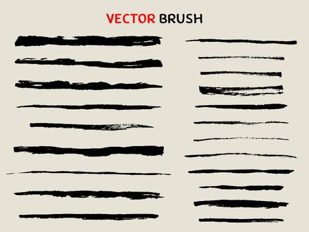 hand drawn dry brush stroke collection