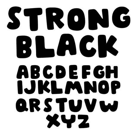 doodle alphabet set,vector font
