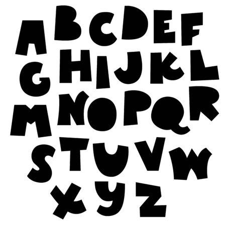 papercut style alphabet set, vector font 일러스트