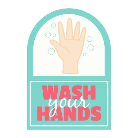 wash your hands sign,vector illustration 일러스트