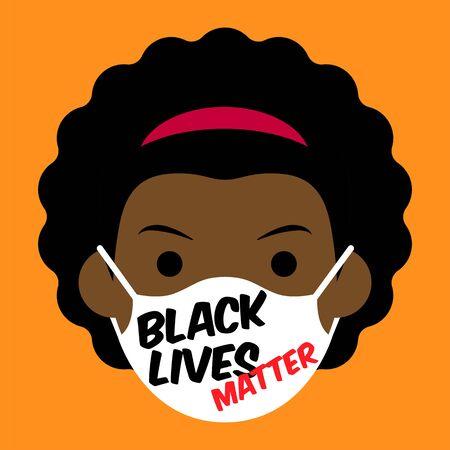 Black Lives Matter cartoon avatar