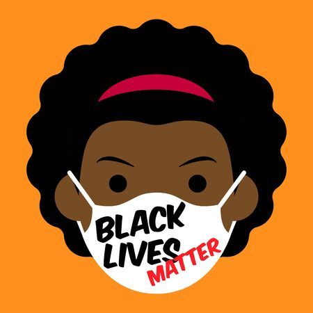 Black Lives Matter cartoon avatar 스톡 콘텐츠 - 149621618